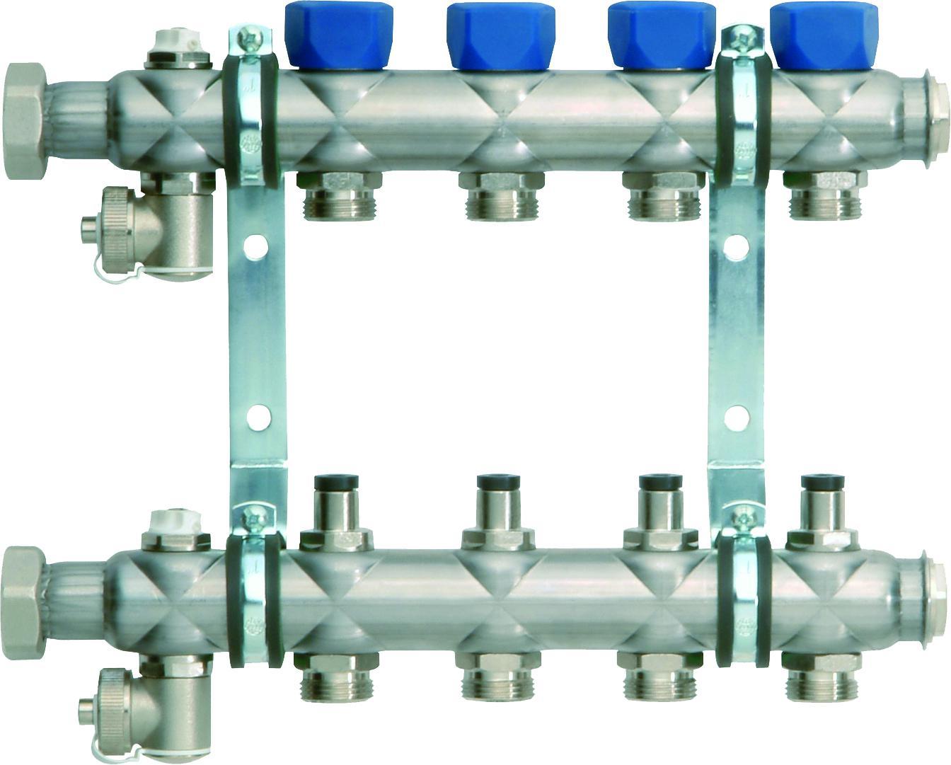 Коллекторная группа с регулировочным вентилем (4 контура)