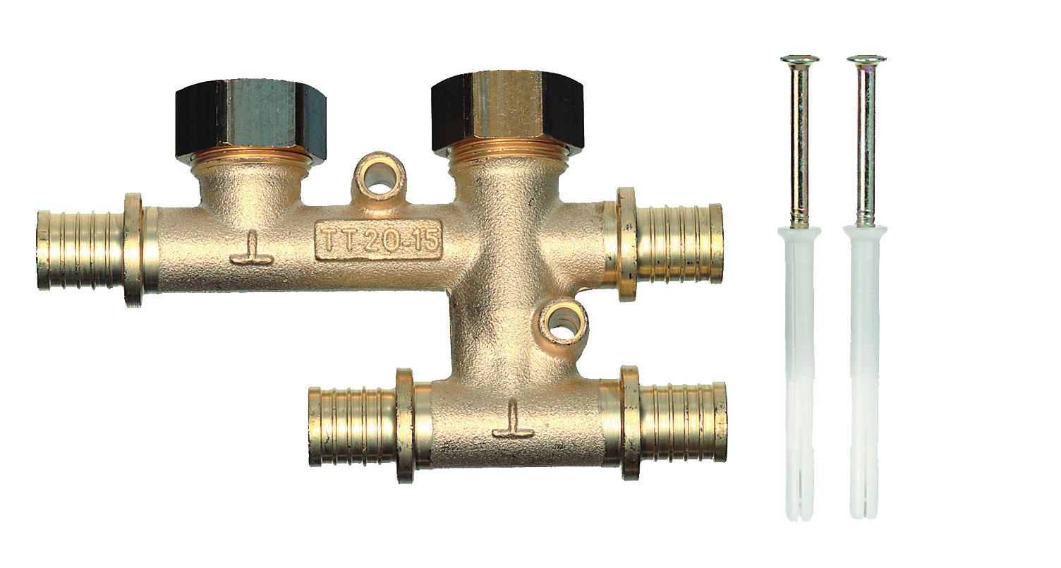Крестовина для плинтусной разводки TT 25-V15-25