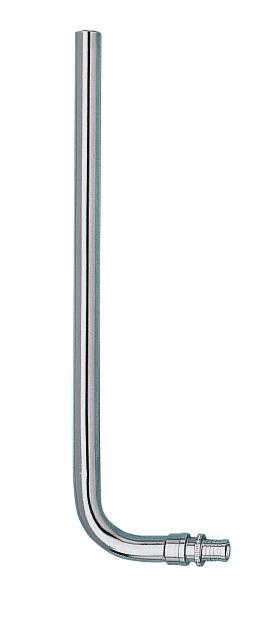 Соединительная труба не никелированная L-образной формы 16-L 15/300
